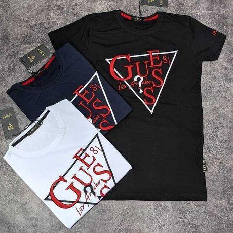 Мужская футболка Guess, Versace, Стильные, качественные футболки