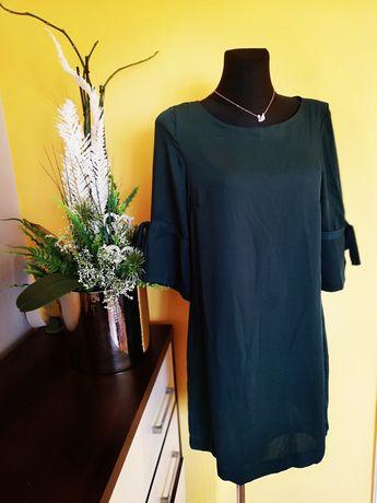 Mini sukienka butelkowa zieleń święta M L