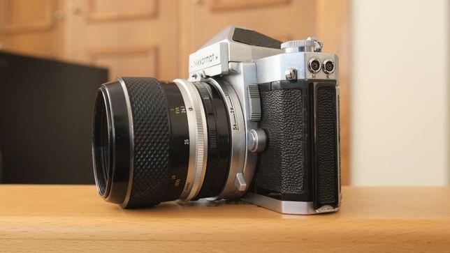 KIT Nikkormat FT com Micro Nikkor-p Auto 55mm f3.5, M2 e bolsa