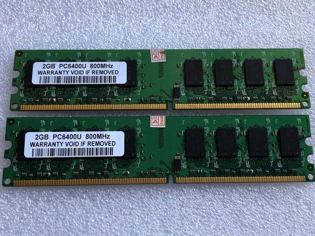 DDR2 4GB 800MHz CRUCIAL (2x2GB) para PC desktop
