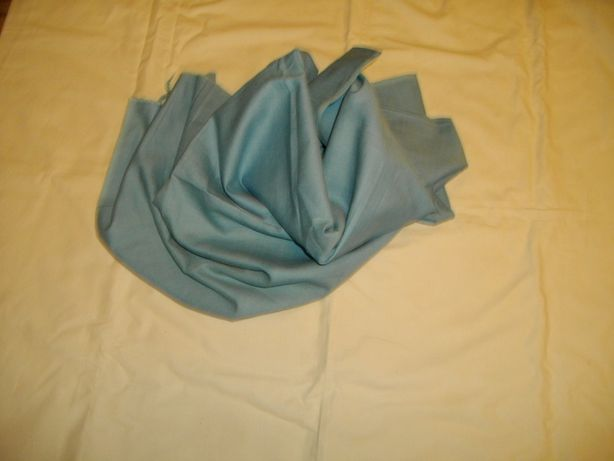 Ткань хлопчатобумажная, темно-голубая (СССР, 70-е годы), 1 м 60 см