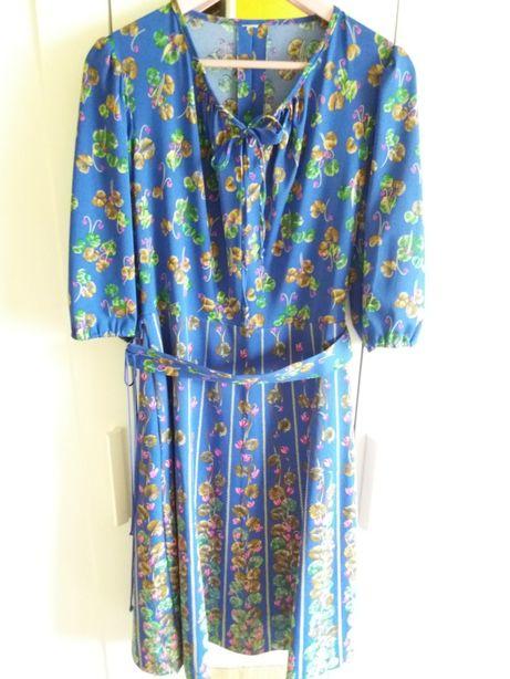 Sukienka retro vintage ludowa kwiaty