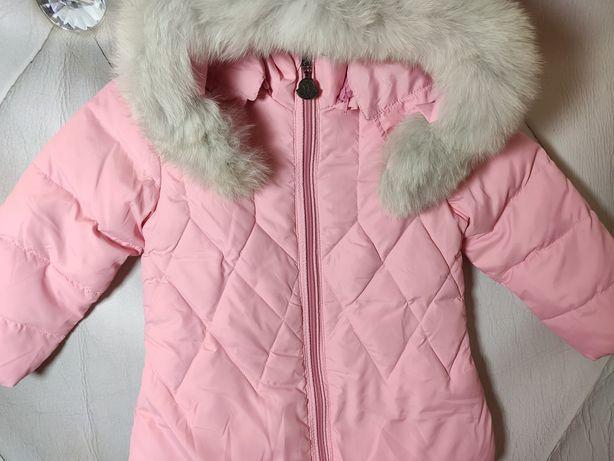 Нежно розовая куртка для малышки