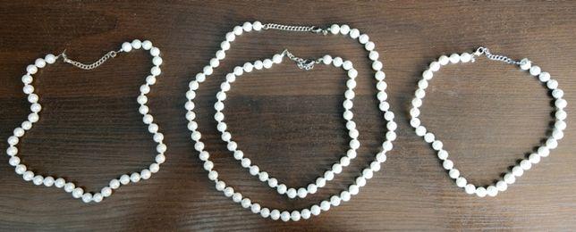 Naszyjnik perły sztuczne z kamieniami Swarovskiego