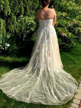 Suknia Ślubna Lillian West przepiękna boho Sand Ivory