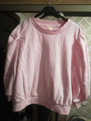 Bluza różowa 46 XL plus size bufki pudrowa hm