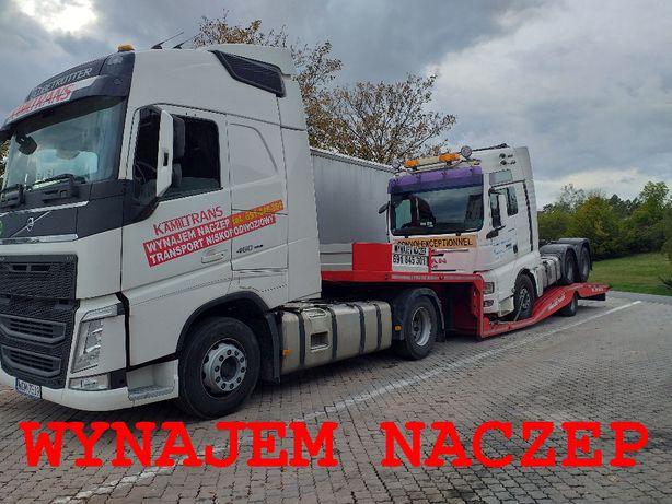 Niskopodwozie Naczepa Wynajem Lawety Transport Ciągników Siodłowych