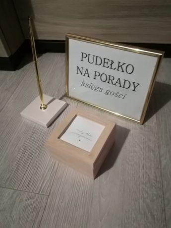 Księga gości-pudełko na porady,życzenia
