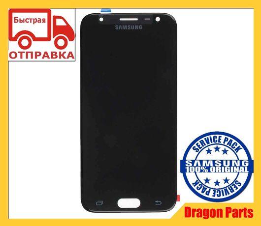 Дисплей с сенсором Samsung J330 Galaxy J3 Black GH96-10969A Оригинал