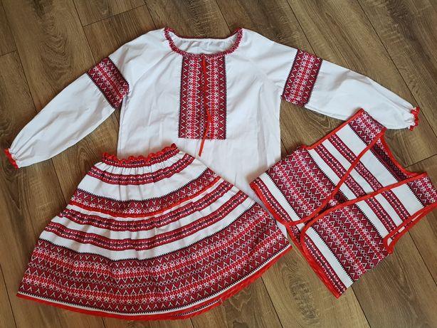 Украинский костюм тройка ( юбка+блуза+жилетка) Новый