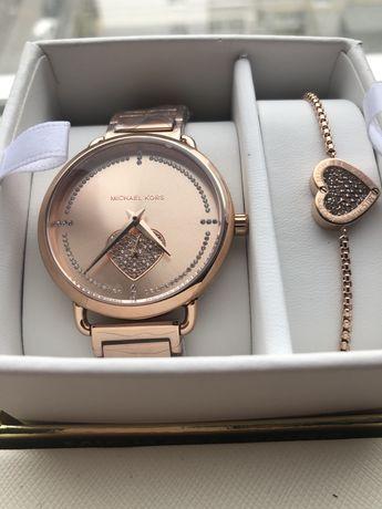 Часы Michael Kors оригинал, подарочный набор с браслетом
