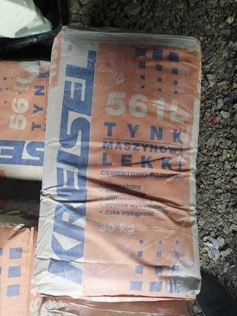 Sprzedam tynk cementowo - wapienny 9 worków i obrzutkę cementową