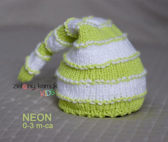 Czapeczka NEON - sesja noworodkowa