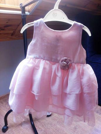 Sukienka dla dziewczynki z H&M, rozmiar 74