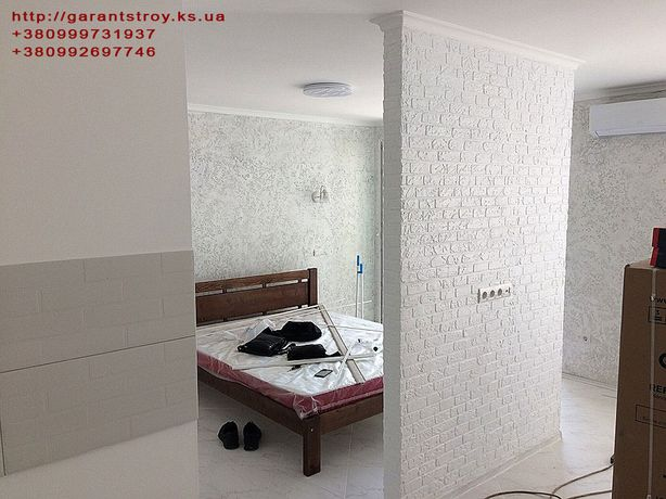 Шпаклевка стен потолка Штукатурка Обои Внутренняя отделка Залить стяжк