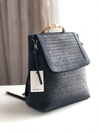 Чёрный стильный женский рюкзак
