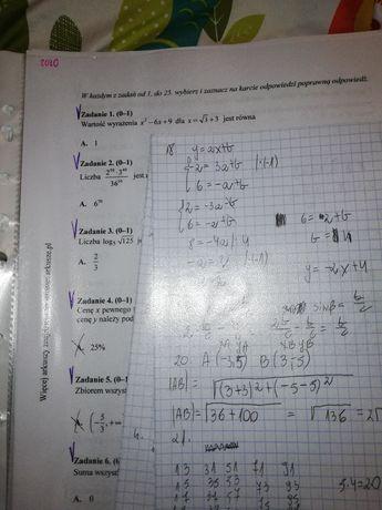 arkusze notatki matematyka