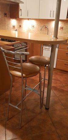 Krzesła barowe hokery komplet 4 szt
