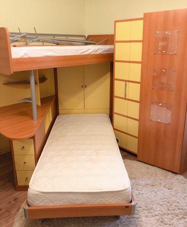 детская подростковая мебель, детская угловая комната для двоих детей