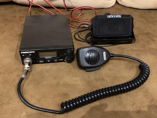 CB radio + głośnik