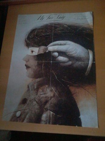 "plakat Wiktor Sadowski ""My fair lady"""