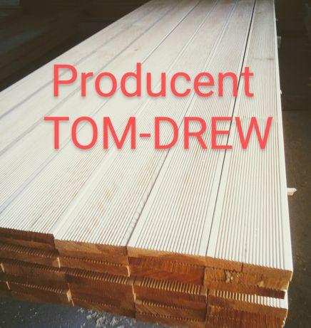 TOM-DREW PRODUCENT deska drewniana tarasowa, podłogowa gr.28 mm