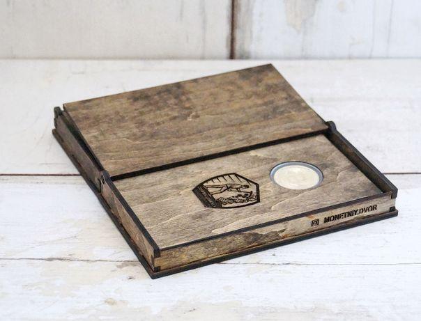 Подарок биткоин bitcoin криптовалюта сувенир в коробке и подставке