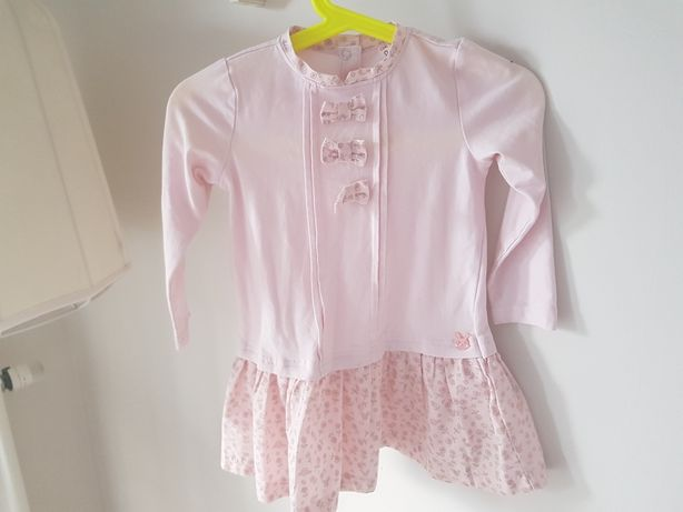 Sukienka tunika Coccodrillo 86 cm różowa
