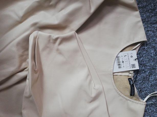 Bluzka zara jasna  L