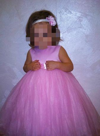 Нарядное пышное платье на годик для девочки