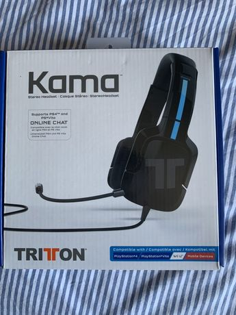 Auscultadores gaming KAMA PS4/PSVITA/Telemovel/WiiU