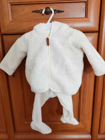 Zestaw spodnie plus polarek H&m rozmiar 62 (Stan idealny)