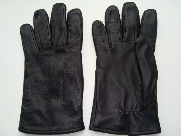 Перчатки мужские кожаные черные