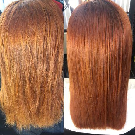 Кератиновое выпрямление волос, ботокс, реконструкция