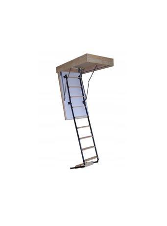 Schody strychowe ocieplane Termo metalowo-drewniane 80x100 gr. 53mm