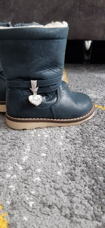 Kozaki buty Emel r. 21 skóra