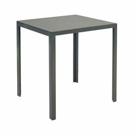 Stół ogrodowy Madryt antracyt szklany, nowy.