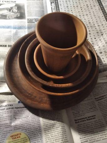 Большая тарелка из керамики ручной работы набор набор посуды керамика