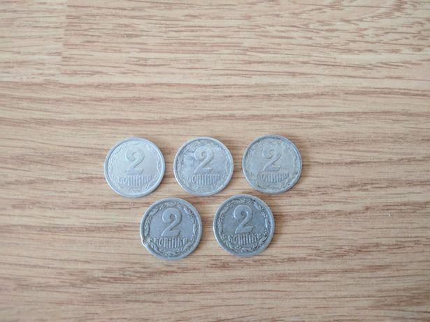 Продажа монет 2 копейки Украинские 1993 год 4 монеты, 1994 год 1 монет