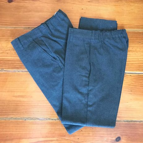 2 calças de uniforme / uniform trousers 8-9 (134 cm)