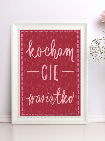 Personalizowany plakat/obraz A3 prezent dla dziewczyny