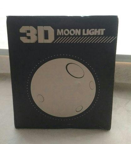 Настольный светильник 3D луна 3D moon light