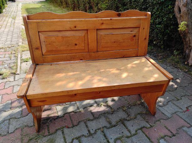Ławka drewniana lata '80