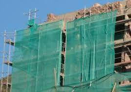 Rolo de rede para proteção de andaime
