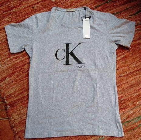 Calvin Klein Jeans t-shirt męski L szary NOWY LOGO HIT!