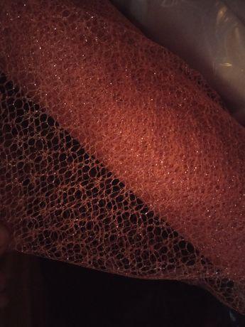 Ткань сетка с узором и без