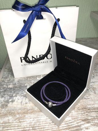 Браслет Pandora оригинал кожа