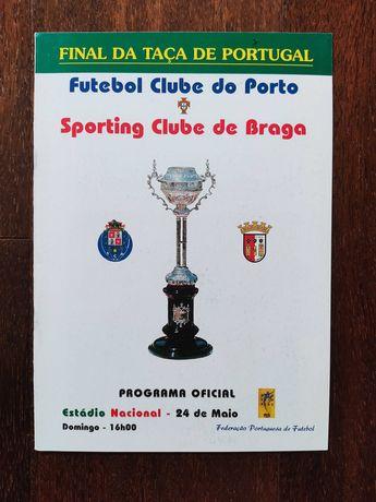 Programas/revistas Taça Portugal Porto-Braga 98 Setúbal 2006