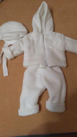 Ubranko strój do chrztu chłopiec dziewczynka 68 74 cm