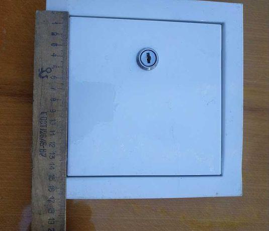 Дверца Люк ревизионный метал   190*190  с замком